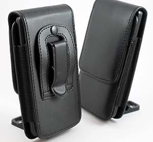 Funda Protectora de Cuero Negro con Gancho Para Cinturón Para Samsung I9100 Galaxy S2 II