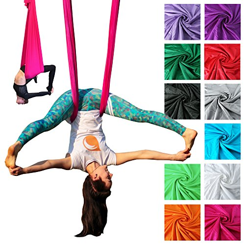 Firetoys Professional Aerial Yoga Hammock, Made in the UK, Safety Tested & Certified - Lots of Colors! (Forest Green)