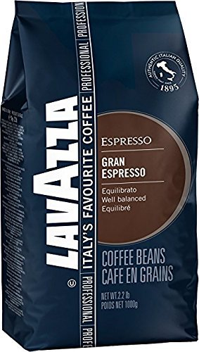 Lavazza Grand Espresso Whole Bean Coffee, 2.2-lbs (Pack of 2)
