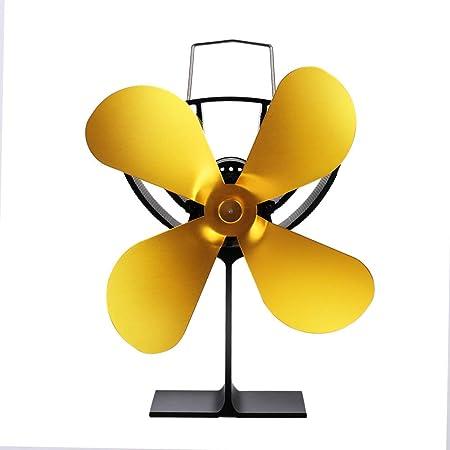 Ventilatore Elettrico 4 ventilatori Camino Ventilatore per Stufa Stufa a Pale Ventilatore Elettrico per Camino Stufe a Legna Stufe Senza elettricit/à Ecologico