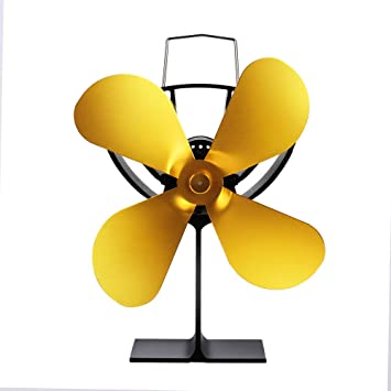 DuDuDu Potencia de Calor lámina 4 Estufa Ventilador Registro Madera Quemador Eco amigable Tranquilo Inicio Chimenea Ventilador eficiente distribución de ...