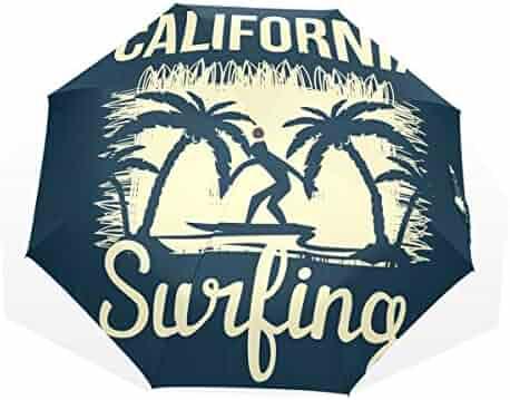 5f814eecd Umbrella Auto Open Close Tropical Surfing 3 Folds Anti-UV Lightweight