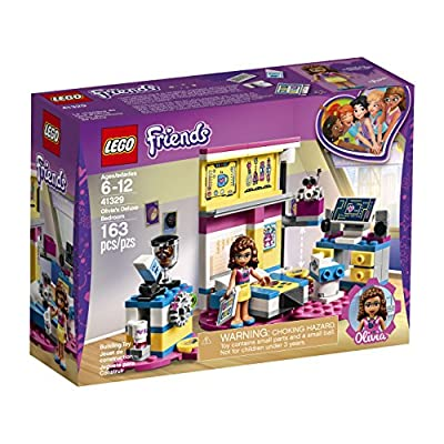 LEGO Friends Olivia's Deluxe Bedroom 41329 Building Set (163 Piece): Toys & Games