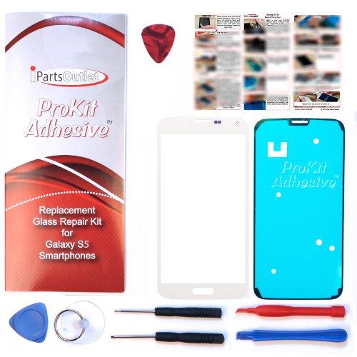 S5 ProKit for Samsung Galaxy S5 Screen Glass Lens repair Kit shimmery white for Samsung Galaxy S5 i9600 s5 prokit adhesive