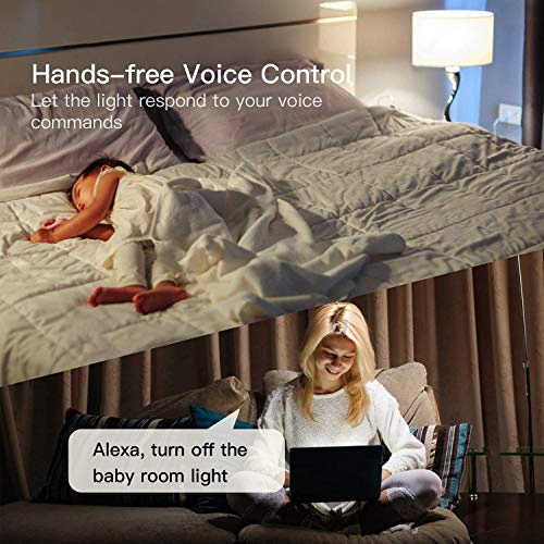 Single Pole Treatlife Smart Light Switch, 4 Pack, Neutral Wire Required, 2.4Ghz Wi-Fi Light Switch, Works with Alexa and Google Assistant, Schedule, Remote Control, ETL Listed, FCC