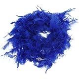 Royal Blue Feather Boa Fluffy Craft Decoration 6.6 Feet Long