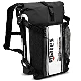 Mares 415451-BKWH D55 Cruise Double Closure System Dry Bag, Black/White, 55 L