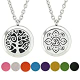 2PCS Essential Oil Diffuser Jewelry Flower Necklace Aromatherapy...