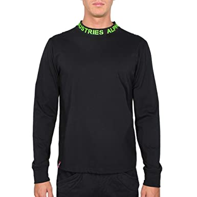 ALPHA INDUSTRIES Men Long-Sleeve T-Shirt Neck Print, Talla:2XL ...