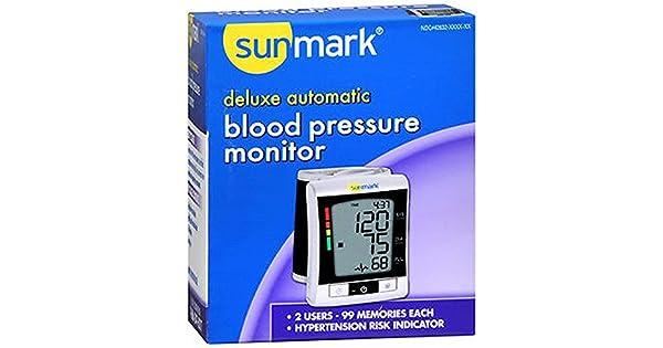 Amazon.com: sunmark Deluxe Tensiómetro automático – Cada ...