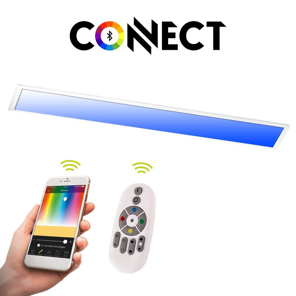 120 x 30 Connect LED-Panel 120 x 30cm mit FB   RGB+CCT