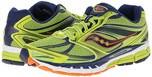 Saucony hombres Guide 8 Running zapatos,Lime/Navy/Orange,12 M US