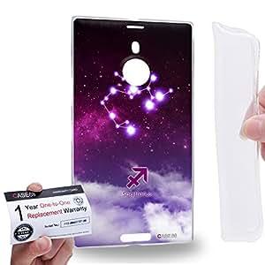 Case88 [Nokia Lumia 1520] Gel TPU Carcasa/Funda & Tarjeta de garantía - Art Universe Purple Sagittarius 12 Zodiacal Art1709