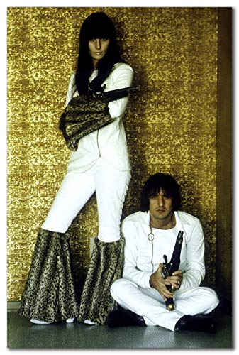 wallsthatspeak Sonny and Cher Wearing Matching Costumes Printed on 12x18 Poster Wall Art by Movie Star News]()