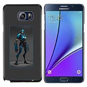 """Be-Star Único Patrón Plástico Duro Fundas Cover Cubre Hard Case Cover Para Samsung Galaxy Note5 / N920 ( Arte cómico del super héroe azul traje de la historieta"""" )"""