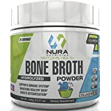 Bone Broth Protein Powder, Grass Fed Beef, Non GMO, Paleo and Keto Friendly, Hydrolyzed, 20 Servings - Gluten Free - Great for Collagen, Weight Loss, Digestive System, Healthy Hair & Skin