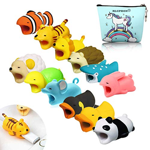 Various Animal - Boshanda 12 PCS Cell Phone Cable Protector Cable Bites Various Cable Animal Shapes Phone Cable Accessory Charging Cables Protective