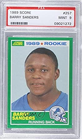 Barry Sanders Psa Graded 9 Football Card 1989 Score 257