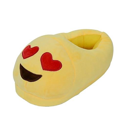 Malloom Mujeres y Hombres Universal Zapatilla Felpa QQ Expresión Emoji Casa Zapatos (G) GfBbEU
