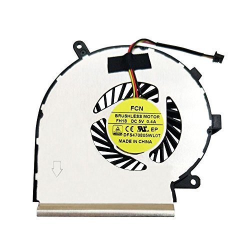 BAY Direct Laptop CPU Cooling Fan 3-Wire for MSI GE62 GE72 P