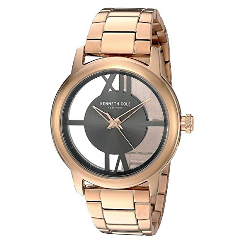 Kenneth Cole New York Women's 10024376 Transparency Analog Display Japanese Quartz Rose Gold Watch