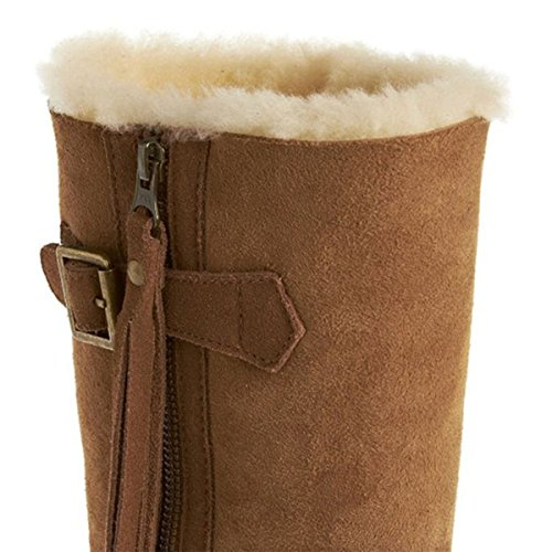 Just Sheepskin Ladies Boots, Chocolate Brown Marrone (Castagno)