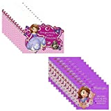 Disney Junior Sofia the First Party Invitations Pack Including Invitations and Thank You Notes - 16 Guests
