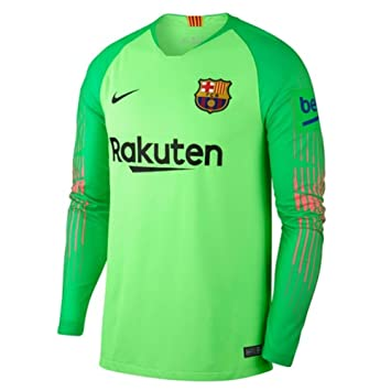 b803c39bc Nike 2018-2019 Barcelona Away Goalkeeper Shirt (Green) - Kids ...