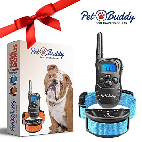 Humane Bark Collar For Small Medium Large Dogs Up To 130 Lbs - Best Dog Training Collar With Rechargeable Waterproof Remote - Vibration Beep Or Shock - 2 Free Bonus Straps