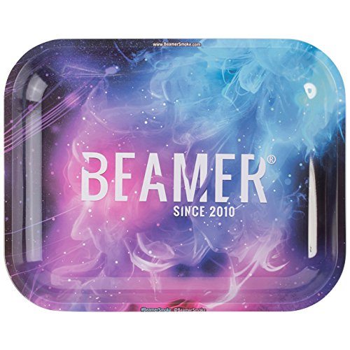 Beamer Designer Series Large Metal Rolling Tray -Outer Space - 13.5 inch x 11 inch by Beamer