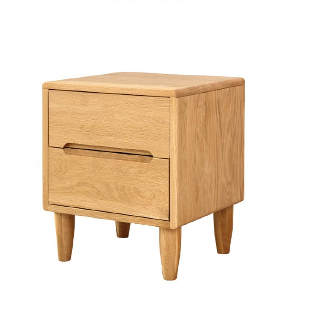 XF Nachttische Nachttisch - Moderne, minimalistische nordische Doppelschublade Schlafzimmer Eiche Kommode, ökonomische und umweltfreundliche Möbel Möbel & Wohnaccessoires (größe : 45x40x50cm)