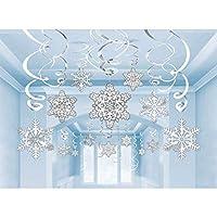 Paquete de descuento de recortes de copos de nieve, 30 ct. | Decoración navideña