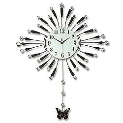 WHLXCQ Wall Clocks Clock Living Room Wall Clock Modern Creativity Minimalism European Style Decorative Pendulum Clock Silent Quartz Clock Big