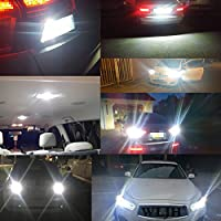 Rear Side Bulbs 501 194 168 2825 6000K White 2 Pack KOYOSO T10 W5W Led Bulbs CANBUS Error Free Car Interior Lamps Parking Light License Plate Lights Dome Light