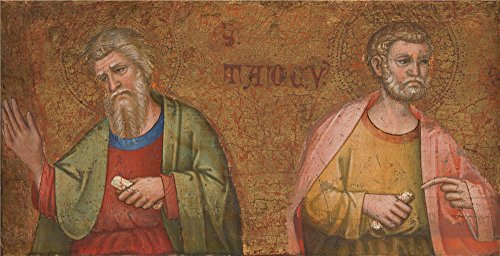 Turbo Snail Costume For Sale (The Perfect Effect Canvas Of Oil Painting 'Dalmatian Two Apostles Fragment Of Predella ' ,size: 16 X 31 Inch / 41 X 80 Cm ,this High Resolution Art Decorative Canvas Prints Is Fit For Study Artwork And Home Decor And Gifts)