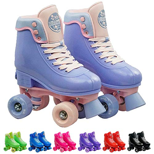 Infinity Skates Soda Pop Adjustable Roller Skates for Girls and Boys | Light Purple Small -