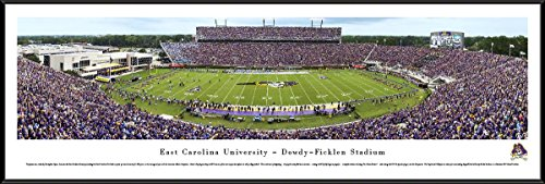 (East Carolina Football - Blakeway Panoramas College Sports Posters with Standard Frame)