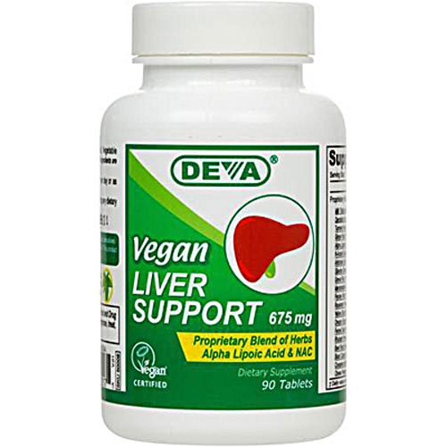 Deva Vegan Liver Support -- 675 mg - 90 Tablets - 3PC by Deva Nutrition