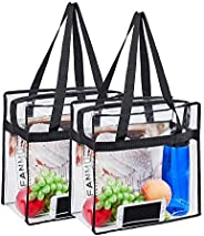 Stadium Approved Clear Tote Bag, Sturdy PVC Construction Zippered Top, Stadium Security Travel & Gym Clear