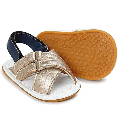 Zapatos de Bebé SMARTLADY 0~18 Niños Niña Bebe Primeros pasos Sandalias Oro