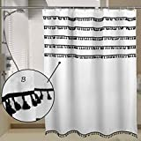 JaHGDU Shower Curtain Fringed Lace Shower Curtain Toilet Curtain Drapery Polyester Thick Waterproof and Mildew-reducing Shower Curtain (Color : 240 width200 high)