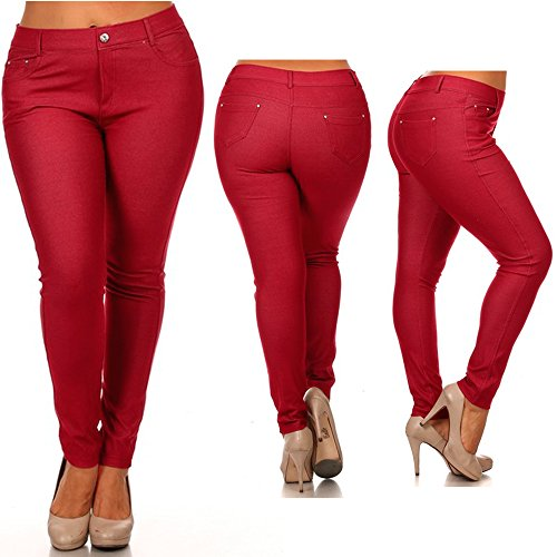 Womens Cotton Skinny Jeggings Stretch
