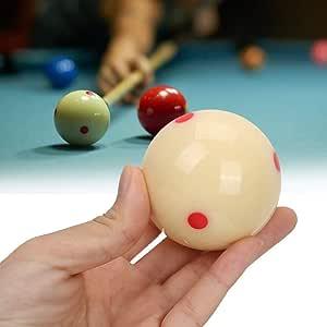Bola de Billar-5.72cm Bola de Entrenamiento de Billar de Resina Bolas de Billar de práctica de Punto Rojo for ...