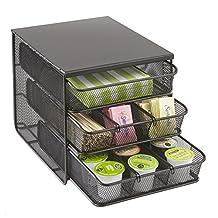 Safco Products Onyx 3-Drawer Hospitality Organizer, Black