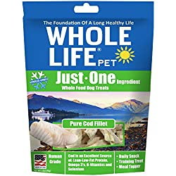 Whole Life Pet Just One-Single Ingredient Freeze Dried Treats For Dogs Pure Cod Fillet, 1.6Oz