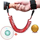 Elecplay Baby Child Anti Lost Wrist Link Safety 360° Breathable Wrist Link 72inch (Red)