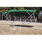 """New Green Vortex 3 Bow Bimini Top 6' Long, 79-84"""" Wide, 46"""" High, Complete Kit, Frame, Canopy, and Hardware (FAST SHIPPING - 1 TO 4 BUSINESS DAY DELIVERY)"""