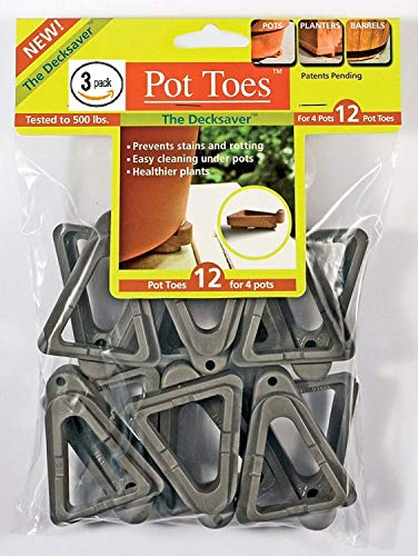 IGC Cartanna Plantstand PT-12CHHT 12-Pack Dark Gray Pot Toes (3 Pack)