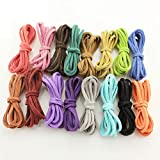 48 x Robust synthetic leather rope. Use of beautiful jewelry necklace. (Free 1 bag )