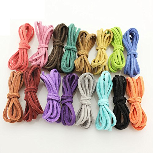 48 x Robust synthetic leather rope. Use of beautiful jewelry necklace. (Free 1 bag ) by Bansuansukdee